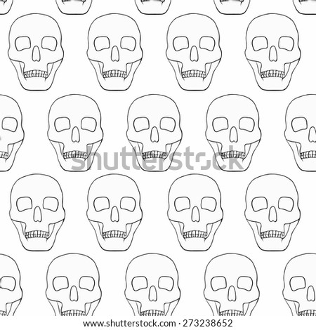 white background with skulls