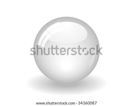 White Ball - stock vector