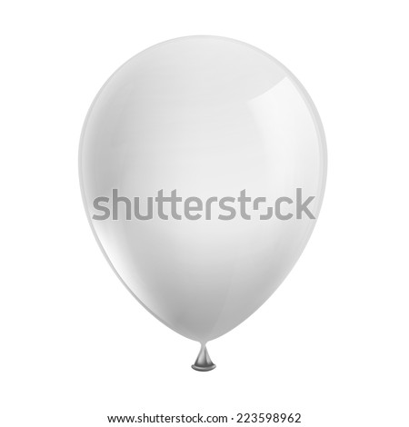 white balloon isolated on white background - stock vector