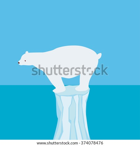 White bear 1 - stock vector