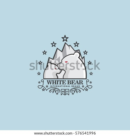 White Bear & mountain Logo Business Corporate