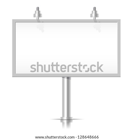 White Bilboard - stock vector