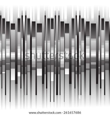 white black lines pattern - stock vector