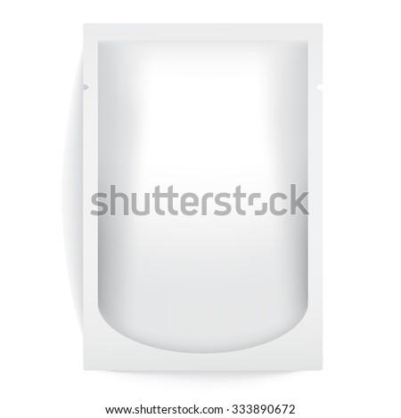 White Blank Foil Packaging : Vector Illustration - stock vector