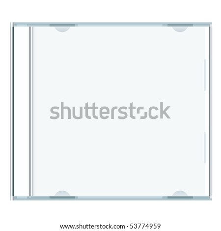 White blank music cd case with room to write your own text - stock vector