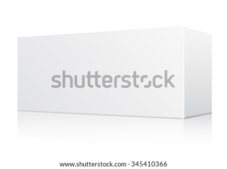 White Blank Paper Box : Vector Illustration - stock vector