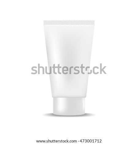 White blank tube of cream. Mock up, cosmetic package