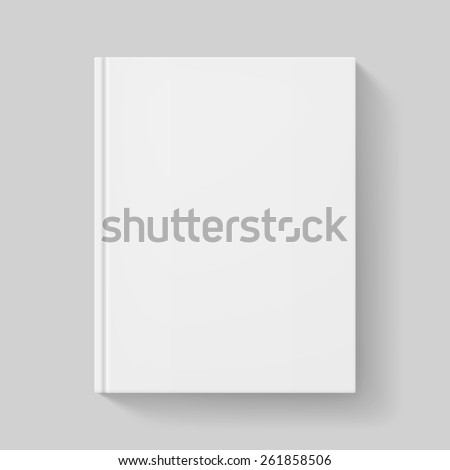 White book. Illustration on gray background for design - stock vector