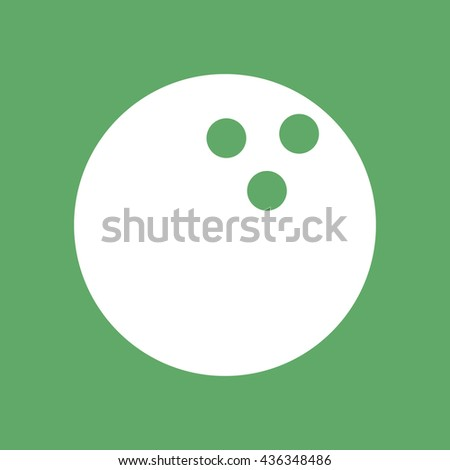 White bowling ball icon vector