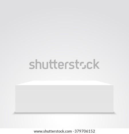 White box. 3D. Cuboid. Vector illustration. - stock vector