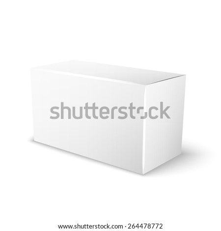 white box for your special design, isolated on a white background - stock vector