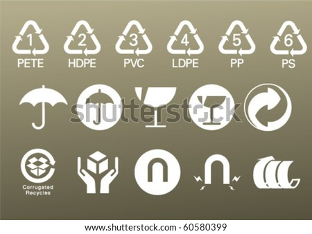 white box icons - stock vector