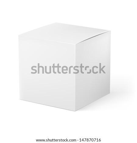 White box. Illustration on white background for creative design - stock vector