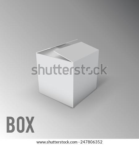 white box mockup - stock vector