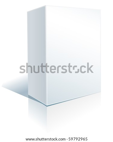 white box on white - stock vector