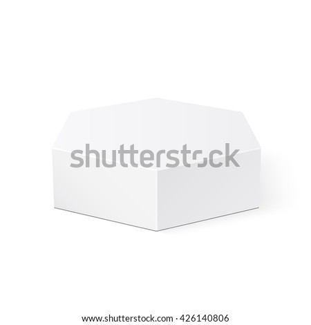 White box. Package. Polyhedron. 3D. Vector illustration.