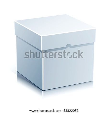 White Box Vector Illustration Isolated on White Background. - stock vector