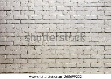 white brick wall, grungy grey texture. vector.  - stock vector