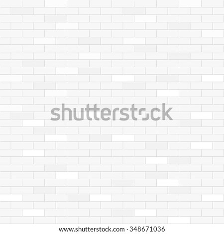 White brick wall seamless pattern - stock vector
