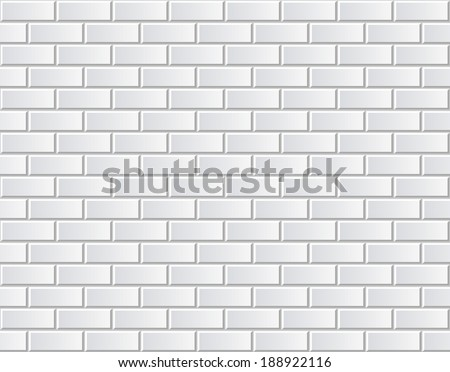White brick wall seamless vector illustration backdrop - texture pattern for continuous replicate  - stock vector