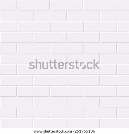 White brick wall. Vector.  - stock vector