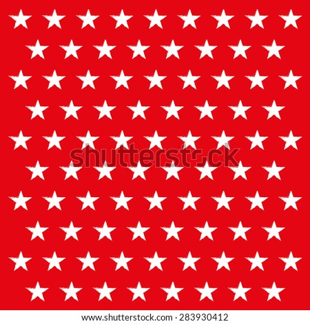 white bruhsed stars on red background
