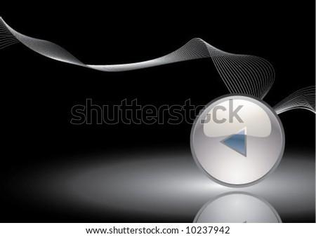 White button - stock vector