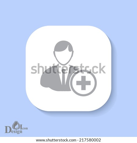 white button with blue background - stock vector