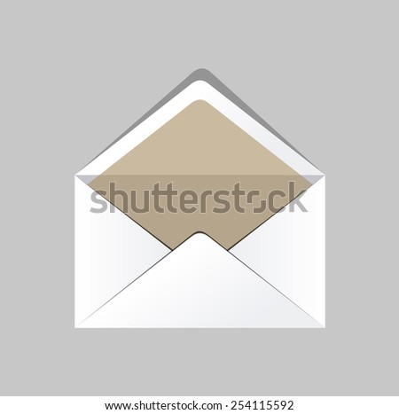 White Camel Envelope Isolated On Gray Background. Template product packing. Vector  - stock vector