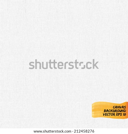 white canvas paper background texture in vector format - stock vector