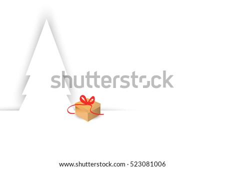 white Christmas and gift background vector