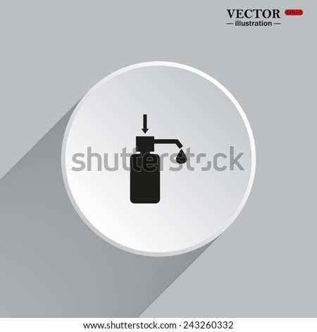 White circle with a shadow. Shower Gel, Liquid Soap, Lotion, Cream, Shampoo, Bath Foam. , vector illustration, EPS 10 - stock vector