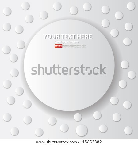 White circles,abstract background for text,Vector - stock vector