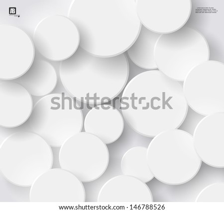 White circles background - stock vector