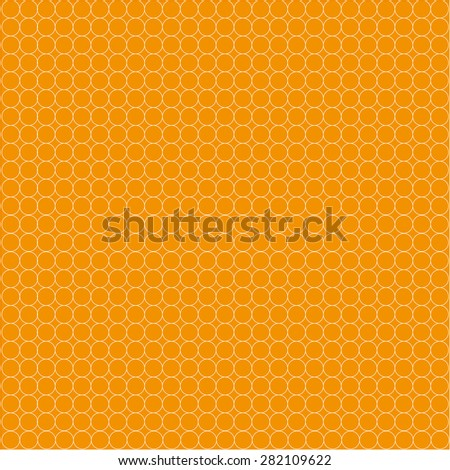 White circles on orange background