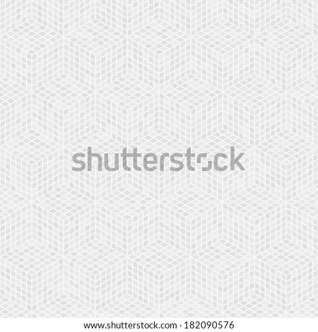 White clean isometric seamless background pattern - stock vector
