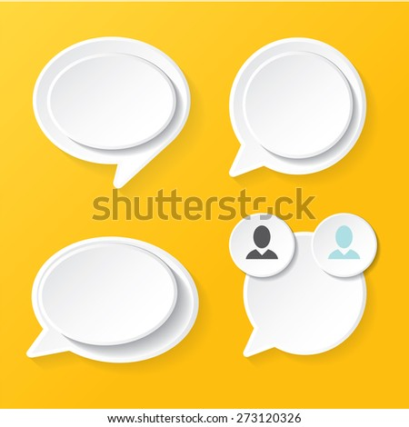 white clean modern paper banners set / can be used for infographics / numbered banners / horizontal cutout lines / graphic or website layout vector - stock vector