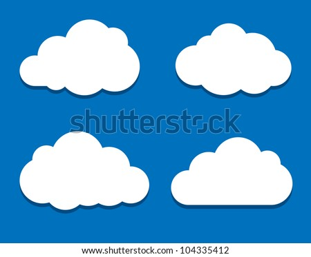 White clouds. Vector illustration