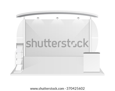 White creative exhibition stand design. Booth template. Corporate identity vector - stock vector
