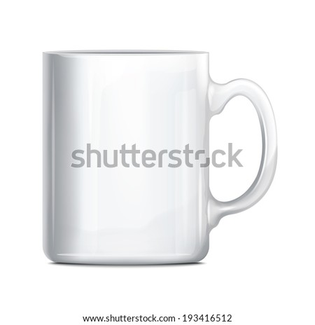 White Cup - stock vector