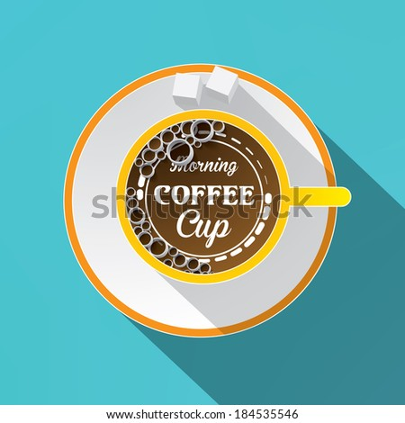White cup of coffee concept. Vector illustration - stock vector
