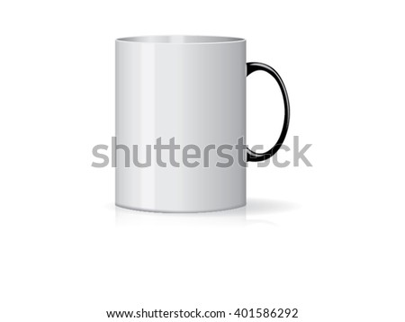 White cup Ready for your design picture Mock up Vector EPS10 - stock vector