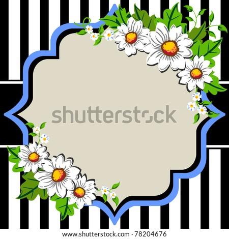 Flower Frame Black And White White Daisy Flowers Frame With