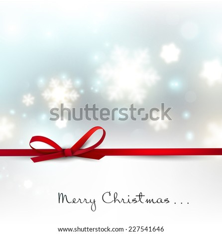 White defocused snowflakes on glow background. Christmas abstract background. Vector illustration - stock vector