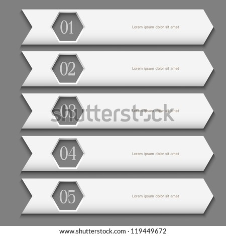 White Design template with stylized arrows. Vector website layout - stock vector