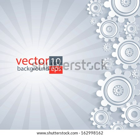 White details gray background. - stock vector