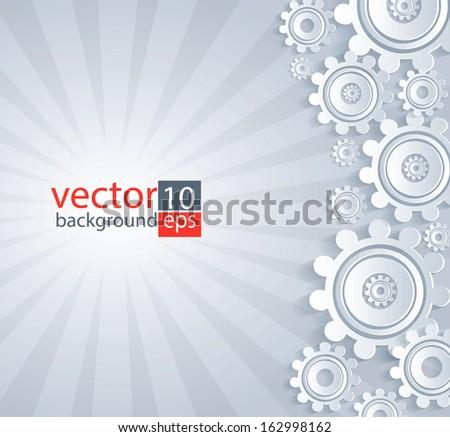 White details gray background. - stock vector