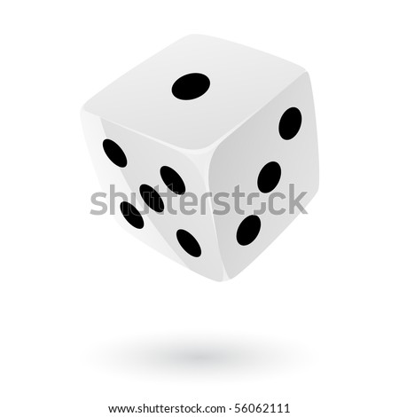 White dice isolated on white - stock vector