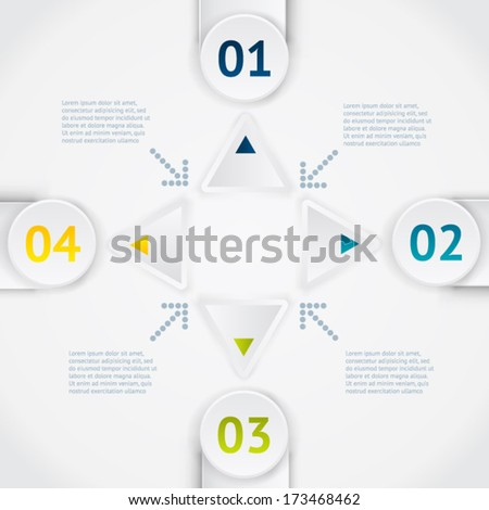 White elements of infographic. Modern vector design template. Arrows elements. Banner elements.