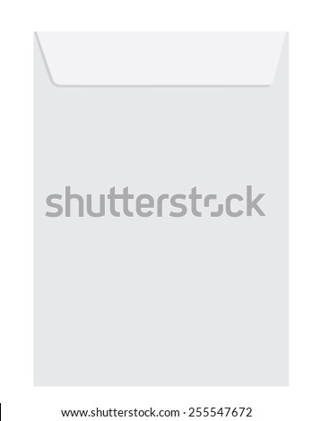 White empty  paper closed envelope template vector icon isolated on white - stock vector